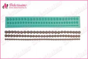 Modla biseri - 3 reda, 28x4,3x1,2 - K4043