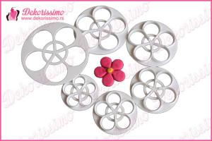 Modle cvetići ruže, set 6kom - K1166