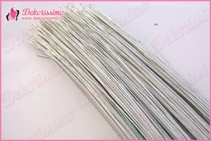 Cvećarska žica metalik srebrna, set 30 komada, 0,8cm - Z010