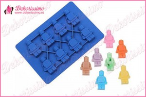 Silikonska modla 8 figurica lego kocki - K4216