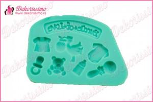 Silikonska modla baby oprema - K4007 a