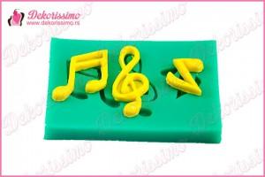 Silikonska modla note i violinski ključ - K4325 a
