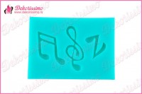 Silikonska modla note i violinski ključ - K4325 b
