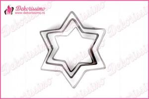 Metalni sekači zvezde, set 3 kom – K8318
