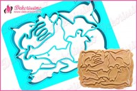 Sekač modla za testo i kolače morske životinje - K8401a