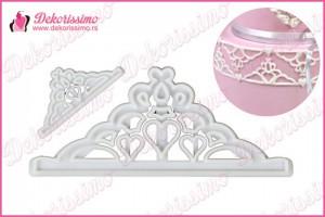 Sekači u obliku tijare (krune), set 2 kom. - K8324