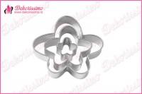 Metalni sekači cvetići, set 3 kom – K8314a