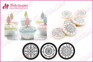 Teksture za cupcakes, set 3 teksture – K8295