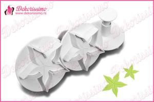 Modle sa izbacivačem cvetna čašica, set 3 kom – K8119
