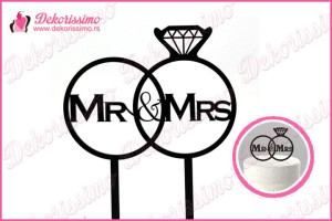 Toper za torte Mr&Mrs prsten – K8238