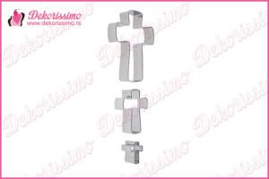 Metalni sekači krstići, set 3 kom – K8218