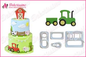 Sekači u obliku traktora, set 4kom - K8359