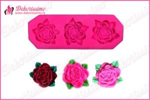 Silikonska modla 3 ruže – K8349