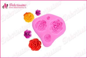 Silikonska modla 4 ruže -K8341