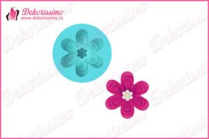 Silikonska modla cvetić -K8411