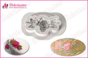 Silikonska modla ornament ruže – K8355